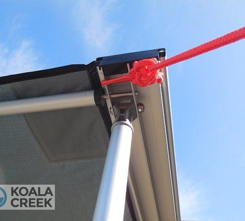 Koala Creek Explorer Awning bouble channel + metal hinge detail