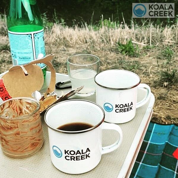 Koala Creek enamal mugs
